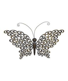 Look what I found on #zulily! Metal Butterfly Wall Décor by Grasslands Road #zulilyfinds