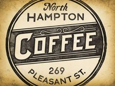 vintage coffee logo with texture