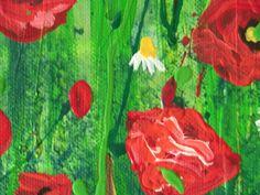 Ausschnitt aus Red Poppies by Jeannette Keller-Wind http://silmarilknittings.blogspot.de/search/label/Malen