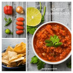 Serve this up with chips, pita triangles, chicken, fish or anything else you feel like trying. Summer Salsa, Spanish Tapas, Low Carb Diet, Yummy Eats, Free Samples, Chana Masala, Triangles, Food Hacks, Diet Recipes