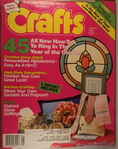 https://flic.kr/p/v4S4Ur | Crafts January 1988 | $6.00 each plus Shipping.