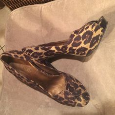 Nine West shoes Leopard design shoes with hidden platform Nine West Shoes Platforms