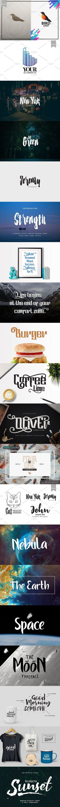 Four in One Package. Scrapbooking Fonts