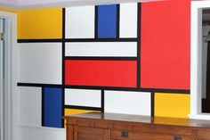Mondrian Wall Mural Tutorial #texturedsurfaces