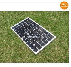 solar panel 10W 12V high efficiency- monocrystalline pv panel- solar module  $55.99 Free Shipping!
