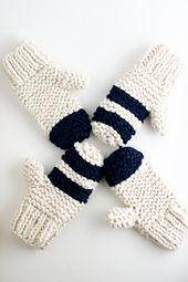 Ravelry: Garter Stitch Chunky Mittens knitting pattern by flax & twine | anne b. weil