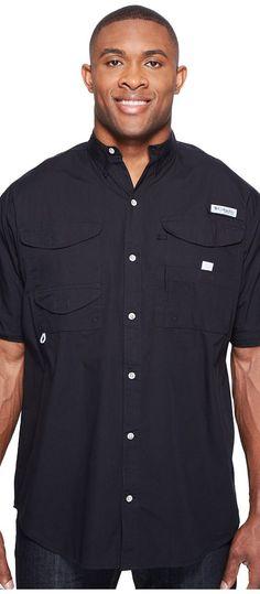 Columbia Big Tall Bonehead Short Sleeve Shirt (Black) Men's Short Sleeve Button Up - Columbia, Big Tall Bonehead Short Sleeve Shirt, FT7130-010, Apparel Top Short Sleeve Button Up, Short Sleeve Button Up, Top, Apparel, Clothes Clothing, Gift, - Fashion Ideas To Inspire