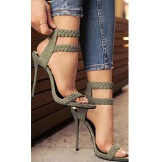 Ankle Braid High Heel Sandals
