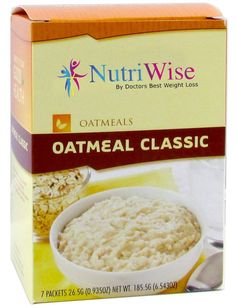 NutriWise - Classic Protein Diet Oatmeal (7/Box) >>> New and awesome product awaits you, Read it now  : Bars Snacks Weight loss dietry