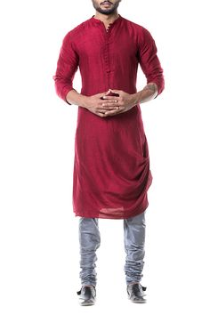 For the men, kurtas in handloom cotton, linen or silk and in any colour, would work. Throw them over trousers or experiment with the different styles of bottoms worn traditionally.