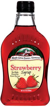 Strawberry Fruit Flavored Syrup is an easy way to enjoy the special flavor of strawberries all year round. #strawberry #syrup #maplegrovefarms