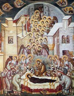 Αστραπάς Μιχαήλ και Ευτύχιος-Η κοίμηση της Θεοτόκου, Περίβλεπτος Όχριδα, 1294-95