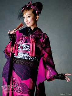 Colorful Japanese Wedding Kimonos