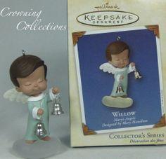 2002 Hallmark Mary's Angels Willow #15 in Series Bells NIB Keepsake Ornament