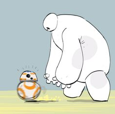 Baymax ('Big Hero 6') and Soccer Droid BB-8 ('Star Wars: The Force Awakens'), because reasons. :)