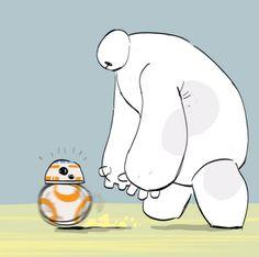 Baymax ('Big Hero 6') and Soccer Droid BB-8 ('Star Wars: The Force Awakens'), because reasons. :)