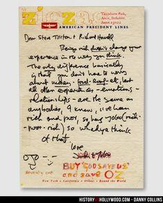 John Lennon Letter to Steve Tilston, the real-life Danny Collins