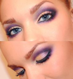 lavender and peach eyes