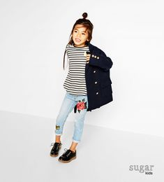 Naomi from Sugar Kids for ZARA Kids #autumngirls.