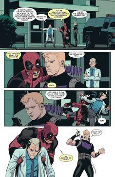 Deadpool and Hawkeye Marvel Jokes, Marvel Avengers, Marvel Comics, Deadpool And Spiderman, Marvel Funny, Marvel Heroes, Funny Comics, Deadpool Art, Funny Avengers