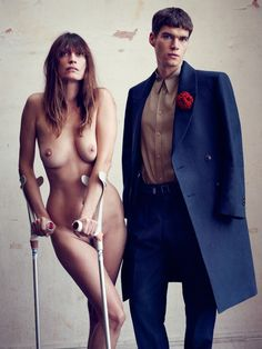 Caroline de Maigret / Vogue Hommes International / Horst Diekgerdes