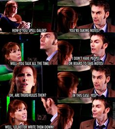 """The Doctor and Donna - DoctorDonna Fan Art: """"How d'you spell Dalek?"""" 