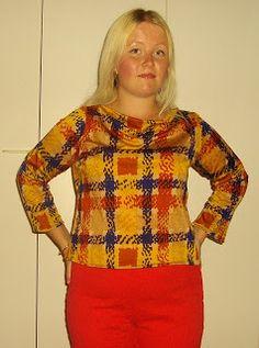 A waterfall neckline shirt