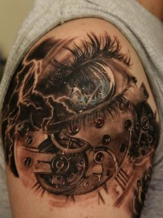 clock mechanics - 100 Awesome Watch Tattoo Designs <3 <3