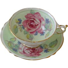 Double Paragon Huge Rose Tea Cup and Saucer