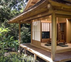 On our website, see a teahouse, a Japanese garden bridge, a Japanese entrance ga. Japanese Style House, Traditional Japanese House, Japanese Interior Design, Japanese Garden Design, Traditional House Plans, Chinese Design, Japanese Gardens, Korean Traditional, Japanese Buildings