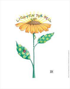 """Lighten Up"" Fine Print – Mary Engelbreit Studios"