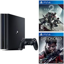 PlayStation 4 Pro 1TB console + Destiny 2 + Dishonored Death of the outsider