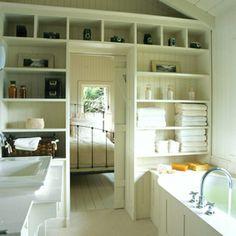 Badezimmer-Organisation-Deko-Wand-Kommode