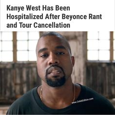 After a week of bizarre concert rants #KanyeWest Has Been Hospitalized at the UCLA Medical Center for psychiatric evaluation. . Read in full on #celebedition . #kimkardashian #beyoncé #jayz #beyonce #saintpablotour #like
