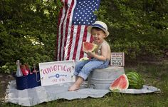 Summertime Watermelon Mini session Colonial Heights Virginia