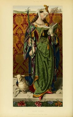 """page from the 1843 book """"Dresses and decorations of the Middle Ages, Volume II"""","""