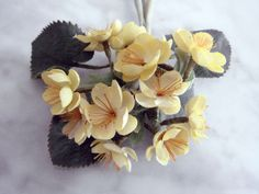 Vintage 1950's millinery flower Sweet Buttercup yellow bunch small blossoms PIN
