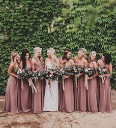 Absolutely looooove the colour of the bridesmaids' dresses. Everything about this is yes Women, Men and Kids Outfit Ideas on our website at 7ootd.com #ootd #7ootd