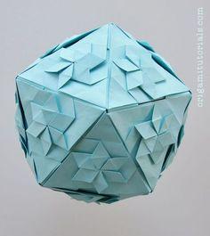 Star Icosahedron Tutorial   Origami Tutorials