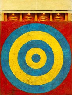 Image detail for -Jasper Johns (1955) Target with four faces