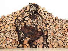 Wood Pile Art: When Chopping Logs Isn't Challenging Enough