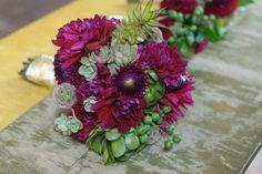 Bride's bouquet - Succulents and Dahlias