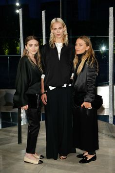 Ashley Olsen, with David Webb jewels; Aymeline Valade, in The Row; and Mary-Kate Olsen, with David Webb jewels
