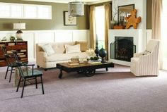 Wear Dated Allure carpet has stain guard and is made from 100% recycled materials.