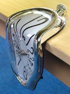 Great Ideas Salvador Dali 'Melting' Clock - Quartz Analogue Shelf / Desk / Table Novelty Timepiece With Analogue Face Family Christmas Gifts, Gifts For Family, Gifts For Dad, Salvador Dali, Melting Clock, Shelf Desk, Objects, Quartz, Clocks