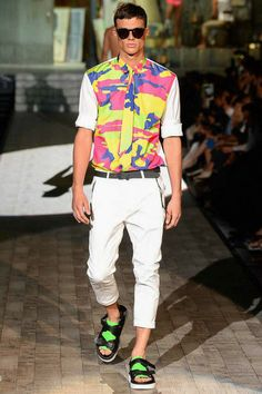 Dsquared² | Spring 2015 Menswear Collection | Style.com, camp in highlighter colours, I am not opposed to that