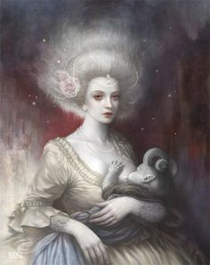 """wickedhalo: """" Lullaby by Tom Bagshaw """""""