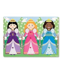 Melissa and Doug -Dress-Up Princesses Peg Puzzle 9 Pieces Wooden Jigsaw, Wooden Pegs, Wooden Puzzles, Wooden Wardrobe, Puzzles For Toddlers, Princess Dress Up, Puzzle Books, Musical Toys, Melissa & Doug