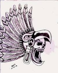 Resultado de imagen para dibujos a lapiz aztecas