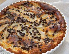 Clafoutis léger aux poires et chocolat WW, recette d'un clafoutis léger et onctueux avec des poires fondantes et une petite touche de chocolat noir.
